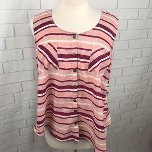 Mine Antropologie blouse large stripe